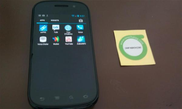 Samsung Nexus S and TouchATag